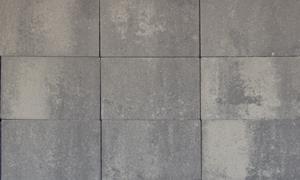 A10. Betontegels 20x30x4,7 grijs/zwart