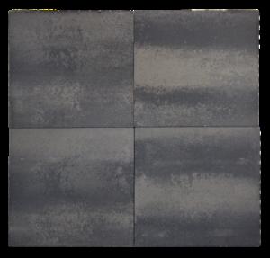 A17 Betontegels 60x60x4,7 grijs/zwart